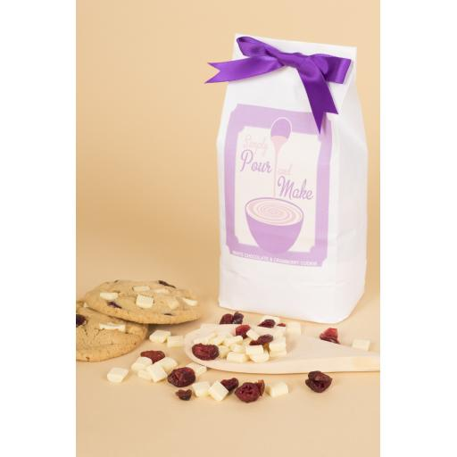 White Chocolate And Cranberry Cookie Bag